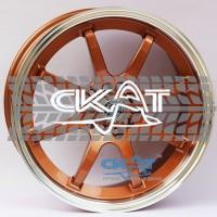 Alexrims AFC-2 (forged) 8x17 5x114,3 ET42 DIA67,1 (bronze + polished rim)